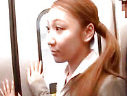 Naughty Fondling For Japanese Office Worker Inside A Train