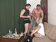 3Some Party Near Blonde Aged Widow