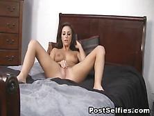 Glamorous Brunette Pleasing Her Dripping Wet Pussy On Webcam