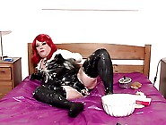 Sploshing & Dildo Fun With Tina Snua - Latex Bbw Fetish