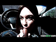 Cute Slut Jodi Taylor Gives A Blowjob In The Car