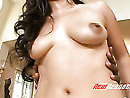 Palatable Brunette Called Jessica Bangkok Rides A Strong Black D