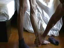 Worshipping Anorexic Veiny Leg From A Mature Sexy Woman
