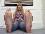 Lovely Blonde Showing Off Her Feet