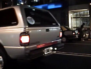 Blonde And Brunette Lesbian Licking Voyeured In Taxi