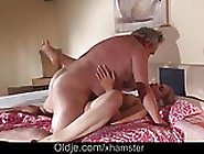 Horny Teen Girlfriend Morning Wild Fucking Grumpy Grandpa