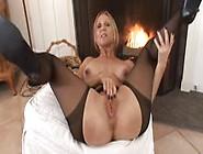 Jenna Masturbating In Black Pantyhose