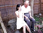 Japanese Girl With Old Man And Friends-By Packmans-Cens.