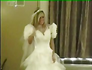 Amateur.  Very Nice Boobed Bride Fuck In White Stockings.