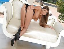 Gorgeous Russian Model Sticks A Glass Wand Deep Into Her Sweet P
