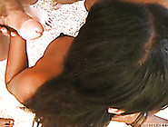 Black Cutie With Fine Curves Works On Five Big Dicks In Oral Gan