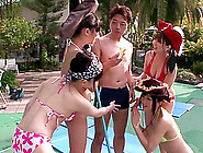 Crazy Poolside Party Action With Nasty Japanese Chick Kohaku Uta