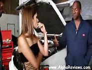 Amber Rayne Gangbang With 5 Black Auto Mechanics