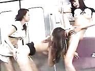 Three Beautiful Japanese Girls Enjoying An Intense Lesbian