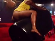 Black Chick Riding Twerking On Mechanical Bull