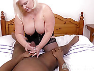Blonde Granny Loves Riding A Big Black Cock