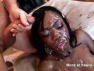 Ebony Crazy Gangbang Facial