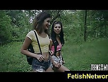 Two Adorable Teen Sluts Went To The Forest,  Looking For A Guy Wh