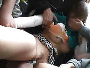 Cute Asian Babe Attacked Onto The Bus Ride