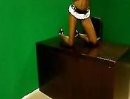 Striptease Photo Shoot- Sexy Sapphire On Set