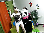Titless Blond Slut Dances With Teddy Toy And This Dance Turns In