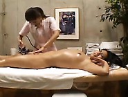 Hot Asian Girl Lies On The Massage Table And Enjoys Infinit