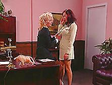 Teri Starr & Angelica Sin Lick Cunts In Office In Hardcore Lesbi
