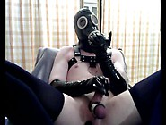 Pierced Gas Mask Boi Having Some Cbt And Breathplay Fun
