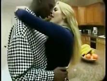 Passionate Interracial Kissing