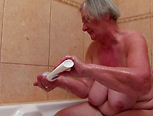 Granny With An Incredible Pair Of Saggy Tits Fucks Him