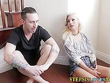 Teen Stepsis Masturbates
