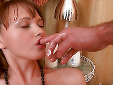 Aline Rico Teen Girl Gets Whip Cream On Her Pussy Before Fucked
