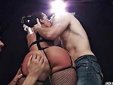 Bdsm Porn.  Jada Stevens Gets Her Ass Double Banged In A Dark Cel