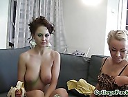 College Lesbian Teen Toying At Dorm Party