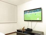 Novinha Colombiana Assistindo Jogo Do Brasil X Colombia Pelada