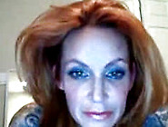 Hot Redhead Milf With Saggy Tits Plays With Her Pussy