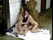 College Girl In Stable