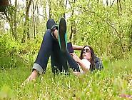 Erica Green Ballet Flats Shoeplay Barefoot Full Video