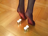 Nylon Feet Candle Torture Porn Video