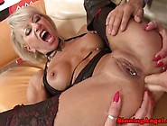 Anal Loving Goth Granny Riding Cock