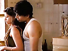 Hot Indian Housewife Passionately Kisses Her Husband
