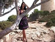 Sexy Dirndl Dress Lady In Majorca - Outdoor Blowjob Handjob - Cu