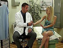 Blonde Pornstar Jesse Jane Gets Her Twat Banged By Doctor In Uni
