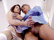 An Older Guy With A Big Cock Lays The Pipe To A Horny Teen