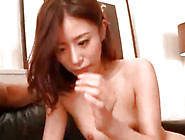 Gorgeous Japanese Teen With Natural Cans Is Sucking Penis