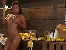 Latina,  Lupe Fuentes Is Touching Herself While Selling Lemonade