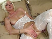 Mom In A Body Stocking Has A Gorgeous Shaved Pussy
