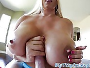 Busty Milf Tittyfucking Cock On Her Back
