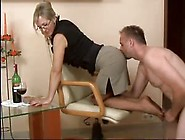 Humping A Sexy Older Woman's Nylon Encased Feet