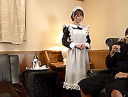 Pretty Japanese Maid Stripped Naked And Fucked Hard